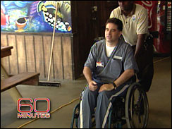 Paey is confined to a wheelchair, and is getting painkillers through a pump at the state prison.